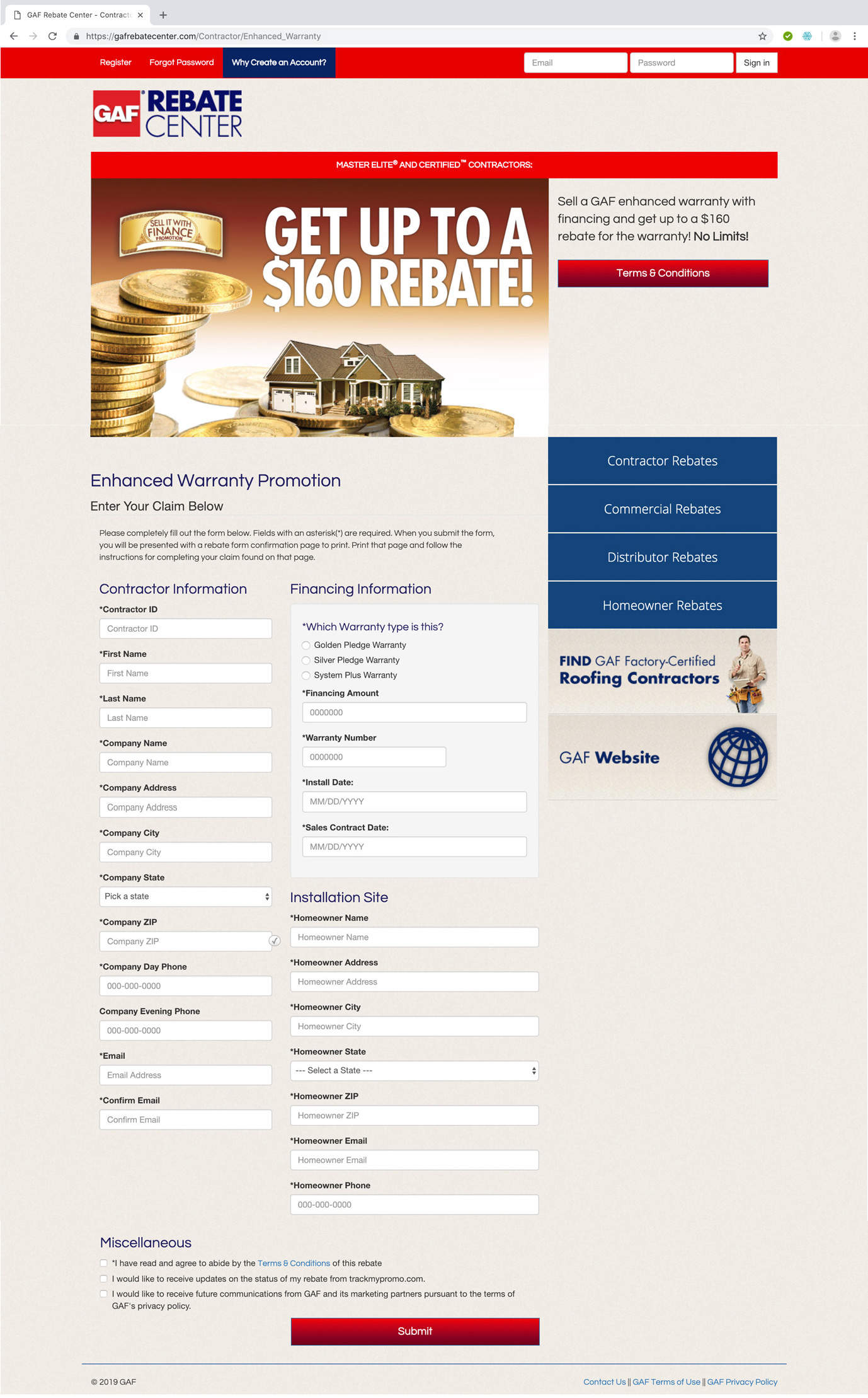 gaf-rebate-centre-rebate-offer