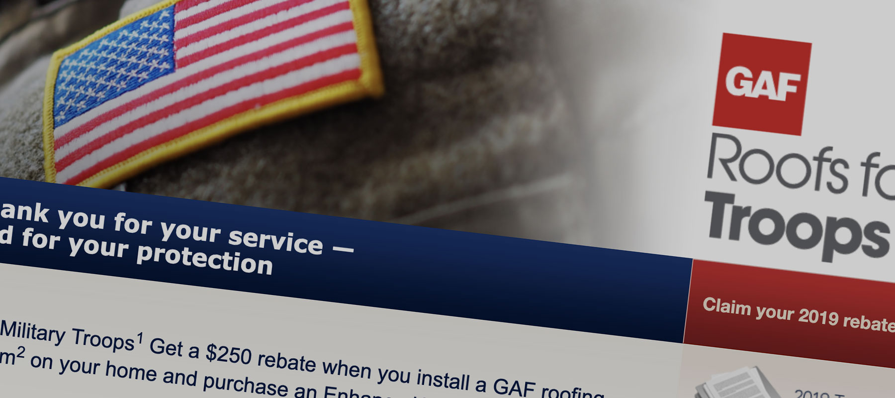 GAF Roofs for Troops Rebate